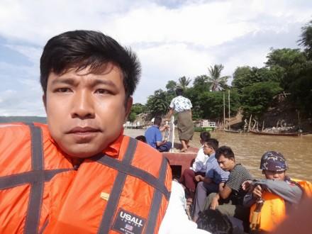 Soe Moe Tun during a reporting trip