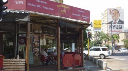 The café in Maputo where Cistac was gunned down